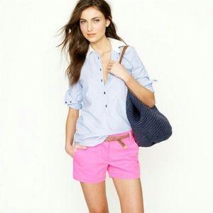 Hot pink chino shorts